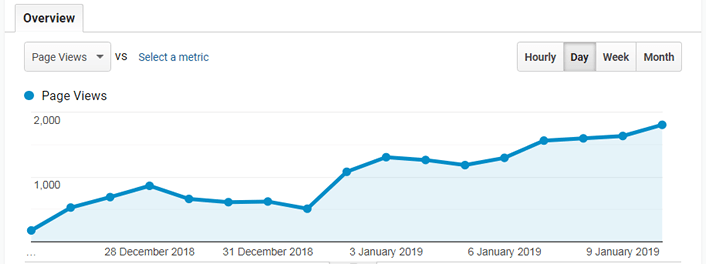 2019 On Page Optimization Service Results